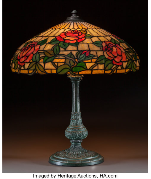 Wilkinson leaded glass and bronzed metal rose table lamp circa circa art glassother wilkinson leaded glass and bronzed metal rose table lamp aloadofball Choice Image