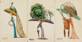 Miscellaneous:Postcards, [Postcards]. Group of Three Humorous Postcards with Hand-Coloring.[N.p., n.d., circa 1900]. ...