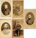 Photography:CDVs, [Photography]. Group of Five Cartes des Visites Depicting German Soldiers. [n.d., circa 1860]. ...