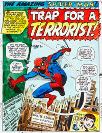 "John Romita Sr. and Sal Buscema The Amazing Spider-Man #95 ""Trap for a Terrorist!"" Complete 20-Page Hand P..."