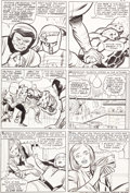 """Original Comic Art:Panel Pages, Jack Kirby and Chic Stone Fantastic Four #36 """"The FrightfulFour!"""" Page 14 Original Art (Marvel, 1965)...."""