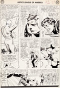 "Original Comic Art:Panel Pages, Mike Sekowsky and Bernard Sachs Justice League of America#18 ""Journey Into The Micro-World!"" Page 19 Original Art..."