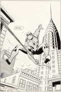 Original Comic Art:Splash Pages, Ron Frenz and John Romita Sr. Web of Fortune UnpublishedGraphic Novel Splash Page Spider-Man Original Art (Marvel...