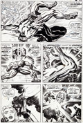 Original Comic Art:Panel Pages, Jack Kirby and Syd Shores Captain America #100 Page 16 BlackPanther Original Art (Marvel, 1968)....