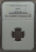 Mexico, Mexico: Charles III 1/2 Real 1767 Mo-M AU53 NGC,...