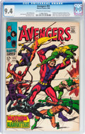 Silver Age (1956-1969):Superhero, The Avengers #55 (Marvel, 1968) CGC NM 9.4 Off-white to whitepages....