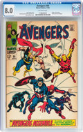 Silver Age (1956-1969):Superhero, The Avengers #58 (Marvel, 1968) CGC VF 8.0 Off-white pages....
