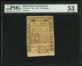 Colonial Notes:Rhode Island, Rhode Island May 1786 20s PMG About Uncirculated 53.. ...