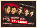 "Movie Posters:Film Noir, Key Largo (Warner Brothers, 1948). British Quad (30"" X 40"").. ..."