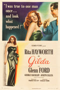 "Movie Posters:Film Noir, Gilda (Columbia, 1946). One Sheet (27.25"" X 41"") Style A.. ..."