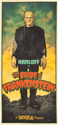 "Movie Posters:Horror, The Bride of Frankenstein by Arthur K. Miller (2015). OriginalArtwork Cloth Banner (31.5"" X 64.5"").. ..."