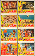 """Movie Posters:Animation, The Three Caballeros (RKO, 1945). Lobby Card Set of 8 (11"""" X 14"""").. ... (Total: 8 Items)"""