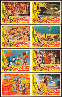 "The Three Caballeros (RKO, 1945). Lobby Card Set of 8 (11"" X 14""). ... (Total: 8 Items)"