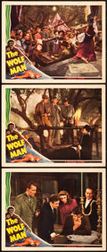 "Movie Posters:Horror, The Wolf Man (Universal, 1941). Lobby Cards (3) (11"" X 14"").. ...(Total: 3 Items)"