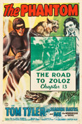 "Movie Posters:Serial, The Phantom (Columbia, 1943). One Sheet (27"" X 41""). Chapter 13 - ""The Road to Zoloz."". ..."