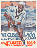 "Movie Posters:War, World War I Propaganda (U.S. Government Printing Office, 1918). 4thLiberty Loan Poster (21.25"" X 25"") "" We Clear the Way.""..."