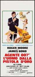 "Movie Posters:James Bond, The Man with the Golden Gun (United Artists, 1974). Italian Locandina (12.25"" X 27.5""). James Bond.. ..."