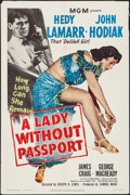 """Movie Posters:Film Noir, A Lady without Passport (MGM, 1950). One Sheet (27"""" X 41""""). FilmNoir.. ..."""