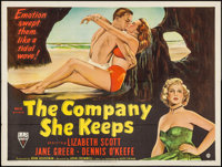 "The Company She Keeps (RKO, 1951). British Quad (30"" X 40""). Drama"