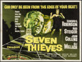 "Movie Posters:Crime, Seven Thieves (20th Century Fox, 1959). British Quad (30"" X 40""). Crime.. ..."