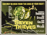 "Seven Thieves (20th Century Fox, 1959). British Quad (30"" X 40""). Crime"