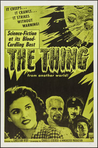 """The Thing from Another World (RKO, R-1957). One Sheet (27"""" X 41""""). Science Fiction"""