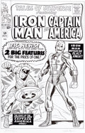 Original Comic Art:Covers, Dick Ayers and Rich Ayers Tales of Suspense #59 CoverRecreation Captain America and Iron Man Original Art (undate...