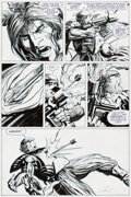 "Original Comic Art:Panel Pages, Barry Windsor-Smith Archer & Armstrong #2 Unity Chapter11: ""Turok and Roll All Night"" Page 15 Original Art (Valia..."