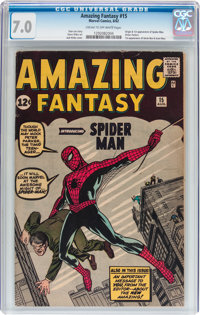 Amazing Fantasy #15 (Marvel, 1962) CGC FN/VF 7.0 Cream to off-white pages
