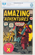 Silver Age (1956-1969):Horror, Amazing Adventures #4 (Marvel, 1961) CBCS VF 8.0 White pages....
