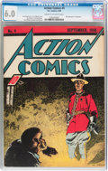 Golden Age (1938-1955):Superhero, Action Comics #4 (DC, 1938) CGC FN 6.0 Cream to off white pages....