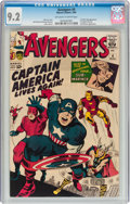 Silver Age (1956-1969):Superhero, The Avengers #4 (Marvel, 1964) CGC NM- 9.2 Off-white to whitepages....