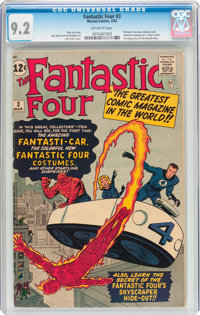 Fantastic Four #3 (Marvel, 1962) CGC NM- 9.2 Off-white pages