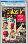 Silver Age (1956-1969):Superhero, Fantastic Four #7 (Marvel, 1962) CGC NM 9.4 Off-white to white pages....