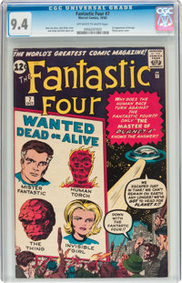 Fantastic Four #7 (Marvel, 1962) CGC NM 9.4 Off-white to white pages