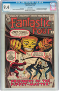 Silver Age (1956-1969):Superhero, Fantastic Four #8 (Marvel, 1962) CGC NM 9.4 White pages....