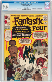 Fantastic Four #15 (Marvel, 1963) CGC NM+ 9.6 White pages