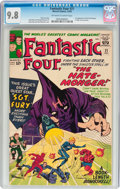 Silver Age (1956-1969):Superhero, Fantastic Four #21 (Marvel, 1963) CGC NM/MT 9.8 Off-white to white pages....