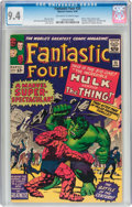 Silver Age (1956-1969):Superhero, Fantastic Four #25 (Marvel, 1964) CGC NM 9.4 Off-white to whitepages....