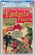 Silver Age (1956-1969):Superhero, Fantastic Four #6 (Marvel, 1962) CGC VF+ 8.5 Off-white to white pages....