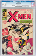 Silver Age (1956-1969):Superhero, X-Men #1 (Marvel, 1963) CGC NM- 9.2 Off-white pages....