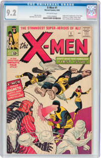 X-Men #1 (Marvel, 1963) CGC NM- 9.2 Off-white pages