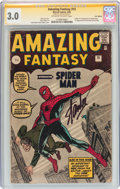 Silver Age (1956-1969):Superhero, Amazing Fantasy #15 UK Edition Signature Series (Marvel, 1962) CGC GD/VG 3.0 Off-white to white pages....