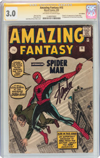 Amazing Fantasy #15 UK Edition Signature Series (Marvel, 1962) CGC GD/VG 3.0 Off-white to white pages