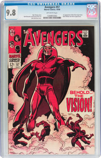 The Avengers #57 (Marvel, 1968) CGC NM/MT 9.8 Off-white pages