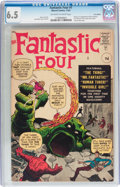 Silver Age (1956-1969):Superhero, Fantastic Four #1 UK Edition (Marvel, 1961) CGC FN+ 6.5 Off-white to white....