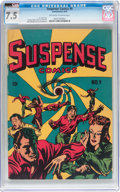 Golden Age (1938-1955):Horror, Suspense Comics #9 (Continental Magazines, 1945) CGC VF- 7.5Off-white to white pages....