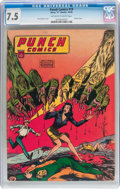 Golden Age (1938-1955):Superhero, Punch Comics #19 (Chesler, 1946) CGC VF- 7.5 Off-white to white pages....