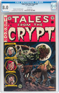 Golden Age (1938-1955):Horror, Tales From the Crypt #37 (EC, 1953) CGC VF 8.0 White pages....