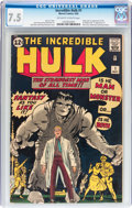 Silver Age (1956-1969):Superhero, The Incredible Hulk #1 (Marvel, 1962) CGC VF- 7.5 Off-white towhite pages....